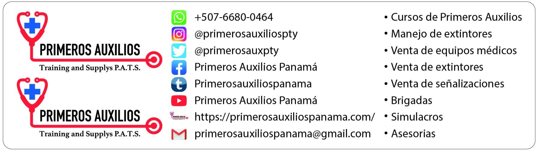 PRIMEROS AUXILIOS PANAMÁ P.A.T.S.
